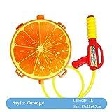 5billion 1pcs Children Water Gun Toy Cute Orange Toy Guns Air Pressure Water Sprayer for Kids Boys Beach Toy