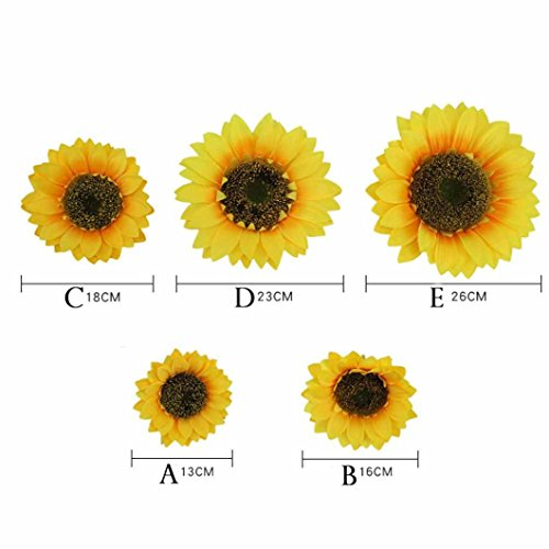 (artificial sunflowers fake sunflower heads silk sunflower silk sunflower heads silk sunflowers sunflLookatool Fake Silk Artificial Sunflower Flower Heads Bouquet Floral Garden Home Decor Diameter)