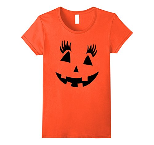 Womens Cute Halloween Pumpkin T-shirt Small (Cute Halloween Graphics)