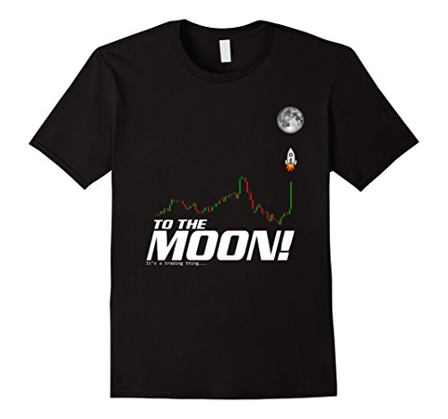 Mens To The Moon   Crypto Coins Trading T Shirt Xl Black