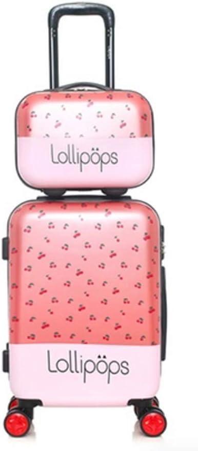 Rose 4 Couleurs Lollipops Valise Cabine avec Vanity en Polycarbonate 36 L