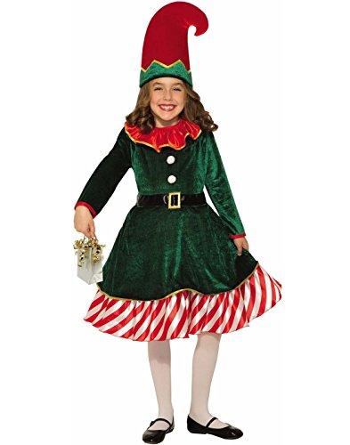 (Forum Novelties Party Supplies 80825 Santa's Lil Elf Child's Costume, Medium,)