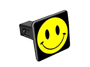 """Smile Smiley Face - 2"""" Tow Trailer Hitch Cover Plug Insert"""