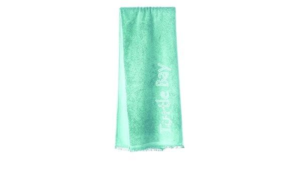 Turtle Bay - Toalla de playa/Pareo toalla - Toalla de baño - Beach Towel with Fringes Plain color - Color: aqua splash - Talla: 180 x 100 cm: Amazon.es: ...
