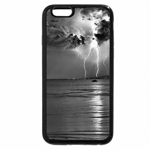 iPhone 6S Plus Case, iPhone 6 Plus Case (Black & White) - PINK LIGHTING STORM