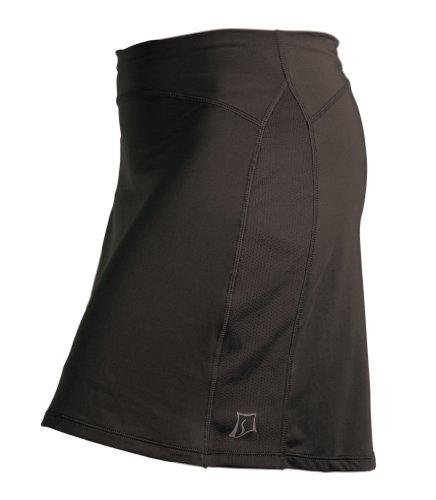 Skirt Sports Women's Happy Girl Skirt, Long Running Skirt with Shorts,Black,XXL