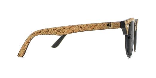 1680a3f0fb6 Glassy Dashawn Jordan Half-Rim Cork Wayfarer Sunglasses at Amazon Men s  Clothing store