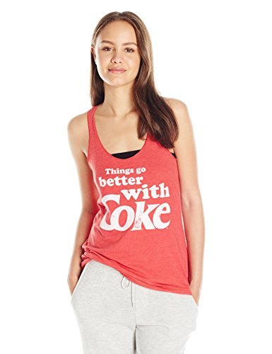 Fifth Sun Juniors Better With Coke Graphic Tee  Red Heather  Small