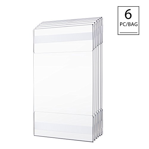 TWING Premium Acrylic Wall Mount Display Sign Holder with ADHESIVE Ad Frame 8.5x11 inches 6PC PACK ()