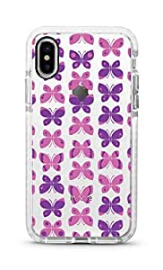 Stylizedd iPhone XS/X Cover Impact Pro White Military Grade Shockproof Case - Sweet Butterfly