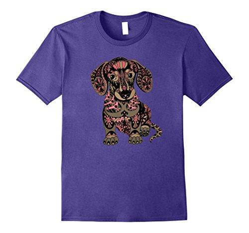 Mens Halloween Dachshund Costume T Shirt for Women Men Large Purple