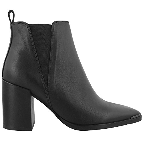Tony Bianco Bello Womens Ankle Boots - with Covered Block Heel & Side Triangular Gussets (7, Black Jetta Polish)