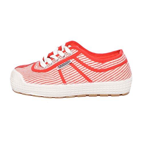 Kawasaki scarpe sneakers canvas 87-PRX3 Plateau Fantasy Marines Red White