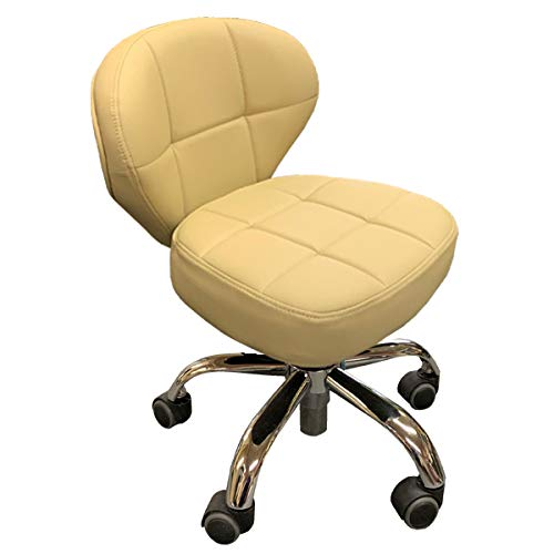 Nail Stool Bar Spa Salon Manicure Pedicure Chair Adjustable Black/Cappuccino/Creme (Creme)