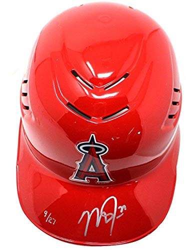 MIKE TROUT Autographed Authentic Angels Batting Helmet STEINER LE 27