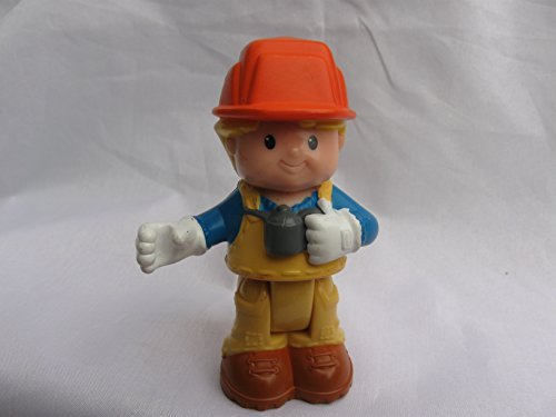 Fisher Price Little People Bendables Construction Worker Eddie Figure, Add On For Learn About Town Play Set, OOP