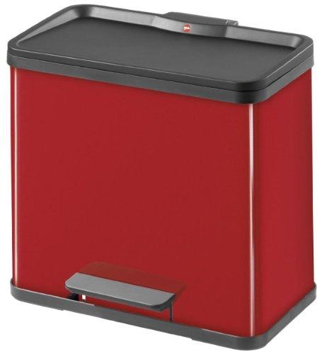 Hailo 0630-719 Öko duo 30 Tret-Abfalltrenner, rot