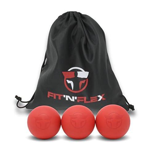 FIT'N'FLEX Balle de Massage Ferme Lacrosse pour Éliminer les Tensions Musculaires et les Trigger Points - Accessoire Automassage