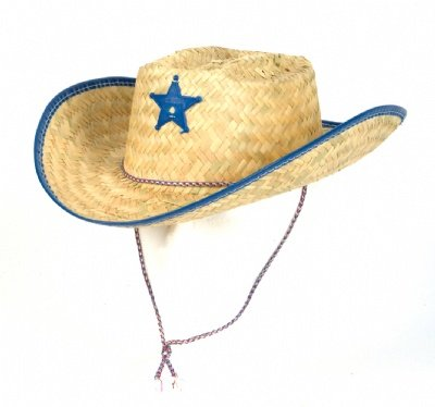 Straw Sheriff Hat Colors Vary
