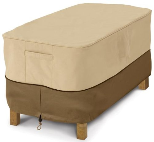 Classic Accessories Veranda Patio Coffee Table Cover - Durable and Water Resistant Outdoor Furniture Cover, Rectangular (Outdoor Rectangular Coffee Table)