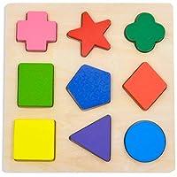 Puzzle de forma colorida preescolar de madera GYBBER & MUMU - Versión 2
