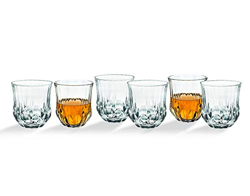 Whiskey Glasses Tumbler Bar Glass Set - Drink Glassware for Wine, Scotch, Water, Juice, Beer and Cocktails - 10oz, Set of - Ounce Cocktail 10