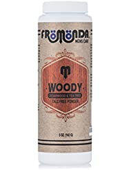Fromonda Woody Talc-Free Body Powder, 100% Natural Ingredients, Cedarwood & Tea Tree Scent, 5 oz