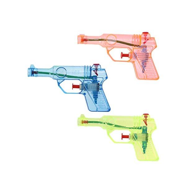 Toyvian 24pcs Trasparente Piccola Pistola ad Acqua per Bambini Giocattoli Acqua Schizzi Grandi Giocattoli Estivi (Colore… 4 spesavip