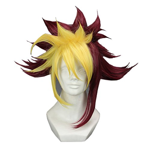 [UpdateClassic Men Multicolored Stage Drama Costume Wig Halloween Christmas Party Wig] (Yugioh Halloween Costumes)