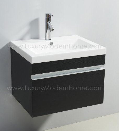 Wall Hung Vanity (vs ALEXIUS - BLACK Vanity Sink - 24