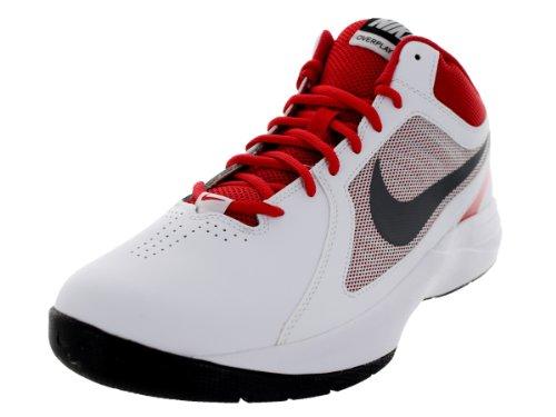 Zapatillas Nike para hombre The over play viii White/RDC mtlc GRY-unvrsty rd, color, talla 8,5