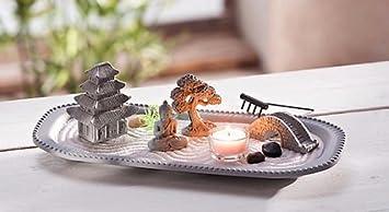 Zengarten Buddha Meditation Entspannung Duft Deko Teelichter Kerzen