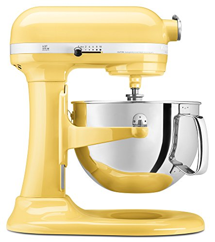 KitchenAid KP26M1XMY 6 Qt. Professional 600 Series Bowl-Lift Stand Mixer – Majestic Yellow For Sale