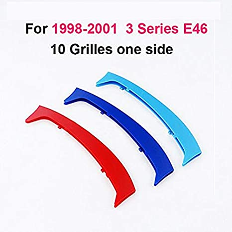 3 Colors Front Grille Badge Insert Trim Strips Grill Cover Decor For 3 Series E90 2009-2012 12 Grilles