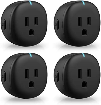 Smart Plug Black Amysen Smart Mini WiFi Outlet, Works with Alexa and Google Home, ETL Certified, Only Supports 2.4GHz Network, No Hub Required, Remote Control, Control Your Devices from Anywhere