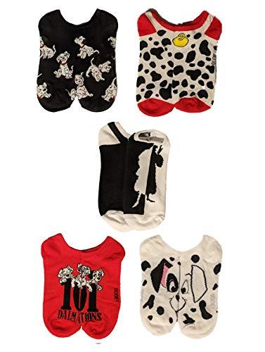 Disney 101 Dalmatians 5 Pack No Show Socks