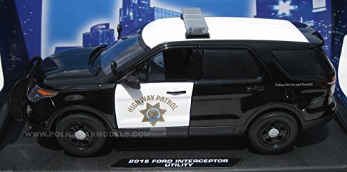 Motormax 1/18 2015 Ford PI Utility Police SUV - CHP California Highway Patrol