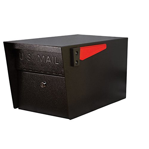 Mail Boss 7506 Mail Manager Locking Security Mailbox, Black (Renewed)