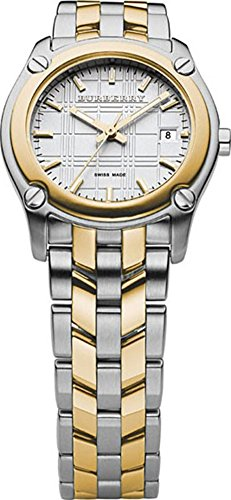 Burberry Women Heritage BU1857 Dual Tone Silver Gold Swiss Lady Watch
