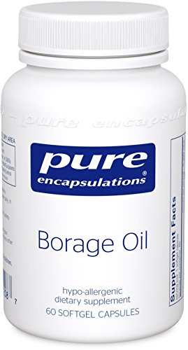 Pure Encapsulations - Borage Oil - Hypoallergenic Dietary Supplement - 60 Softgel - Softgels Borage