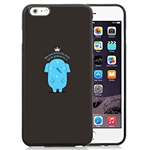 New Personalized Custom Designed For iPhone 6 Plus 5.5 Inch Phone Case For Cartoon Blue Elephant with Crown Phone Case Cover