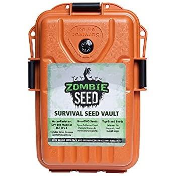 Survival Seed Vault: Survivalist Dry Box with Expert-Selected, Non-GMO, Open-Pollinated Seed for Survival Garden