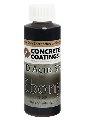 VIVID Acid Stain - 4oz - Ebony (Almost Black) - Acid Wash Concrete