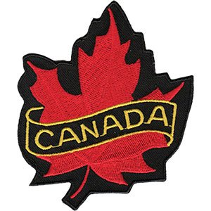 - CANADA LEAF, Officially Licensed, Iron-On / Sew-On, Embroidered PATCH - 3