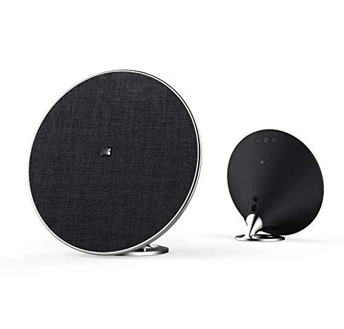 Moany ワイヤレス+有線Bluetooth 4.0音声通話BluetoothスピーカースマートBluetoothスピーカークリエイティブハンズフリーサブウーファークリエイティブハンズフリーサブウーファーBluetoothスピーカースピーカーBluetoothワイヤレス 売り上げ後の専門家 (Color : ブラック) B07S4HPF64 ブラック