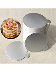 """Poitemsic 3.1"""" Silver Mini Cake Boards Cardboard Cupcake Circles for Mousse Pastries Dessert Displays Tray for Wedding Birthday Party,100-Count"""