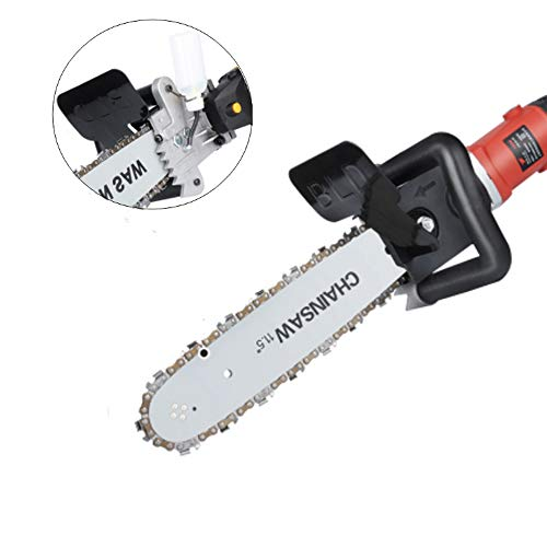 11.5 Inch Chainsaw Bracket Set for 100 125 150 Angle Grinder Into Chain Saw by Lukcase (Best Chainsaw For Carving)