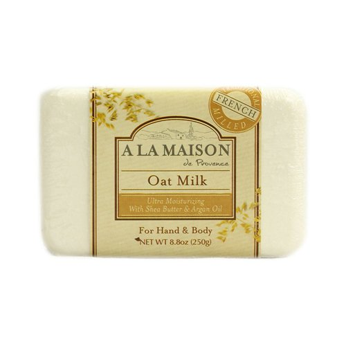 Soap Bar Oat Milk - Bulk Saver Pack 4x8.8 OZ : A La Maison Bar Soap Oat Milk