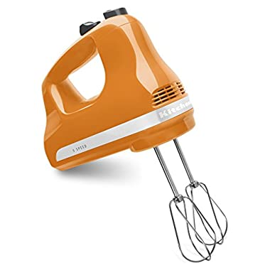 KitchenAid KHM512TG 5-Speed Ultra Power Hand Mixer, Tangerine