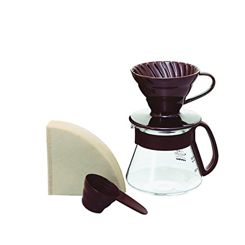 Hario V60 Color Coffee Dripper and Pot, Brown by Hario